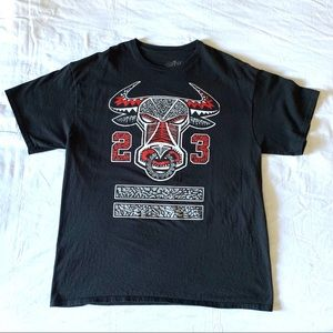 Chicago Bulls Logo Michael Jordan 23 T-Shirt